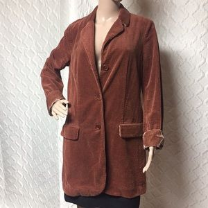 J•Jill Corduroy Coat Small